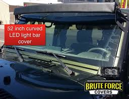 curved led light bar 52 inch curved double row led light bar cover brute force covers