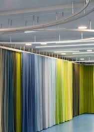 Coloured Curtains School Curtains As A Stage Backdrop Or Room Divider
