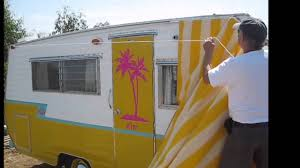 Rv Window Awnings For Sale Hanging A Vintage Trailer Awning By Yourself Youtube