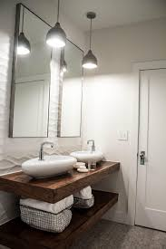 Powder Room Vanities Contemporary Bathroom Reclaimed Wood Floating Powder Room Vanity Airmaxtn