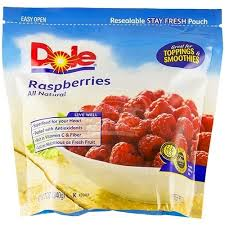 dole fruit snacks dole raspberries frozen bag 12 oz rocklandkosher online