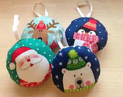 felt christmas ornaments etsy uk