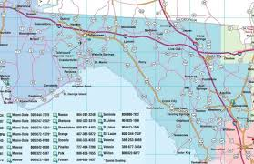 map of gulf coast florida central florida road map showing towns cities and
