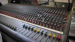 Recording Studio Mixing Desk by Amek Tac Scorpion Mixing Console Tour Youtube