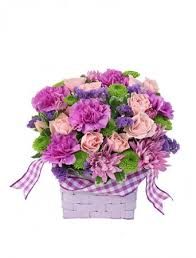 flower delivery raleigh nc purple patchwork basket in raleigh nc daniel s florist