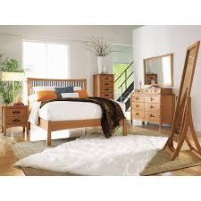 Arts And Crafts Berkeley Wood Platform Bed Solid Cherry Made - Berkeley bedroom furniture