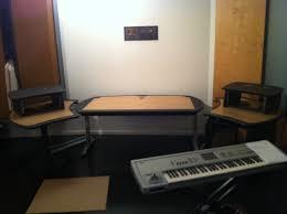 Best Home Studio Desk by Wood Multiple Monitor Computer Desk Pdf Plans Arafen
