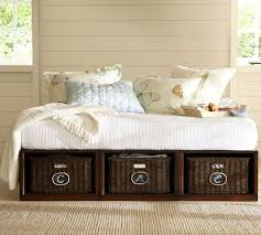 pottery barn stratton daybed pottery barn daybed with baskets