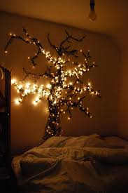 tree shaped string lights for bedroom ideas with