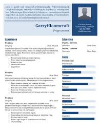 resume programmer 17 infographic resume templates free download