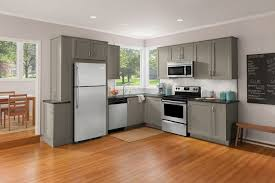 Taupe Cabinets Kitchen Style Taupe Flat Cabinets And Stainless Steel