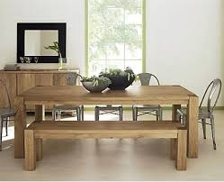 Modern Bench Dining Table Dining Room Modern Dining Table With Bench On Dining Room Within 5