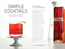 cocktail recipes simple 4 ingredient cocktails imbibe magazine