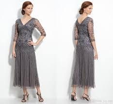 2016 bling mother of the bride dresses for women v neck half