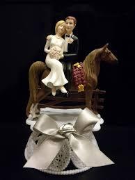 western wedding cake topper with horse wedding idea