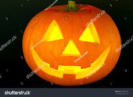 halloween pumpkin scary face reflection on stock photo 109842440