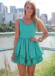 green lace overlay sleeveless flare skater dress classy cool