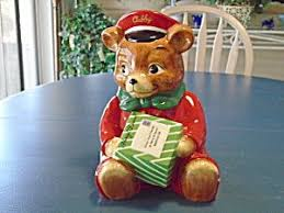 teddy delivery harry david cubby teddy delivery boy cookie jar vintage