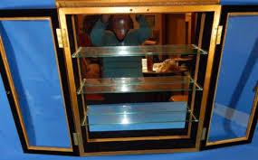 Curio Cabinet Bombay Company Bombay Company Gold Wall Cabinet Mirror Back Doors Curio Display