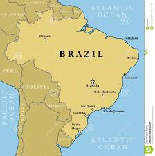 city map of brazil image brazil map country outline largest cities including
