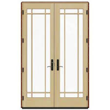 Jeld Wen French Patio Doors With Blinds Mesa Red The Home Depot