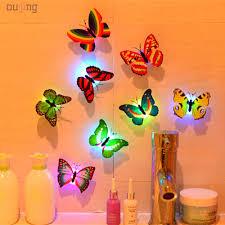 aliexpress com buy hot fashion 3d butterfly rainbow heaven 10 fashion 3d butterfly rainbow heaven 10 pcs wall stickers butterfly led lights wall stickers 3d house decoration wholesale from reliable wall sticker