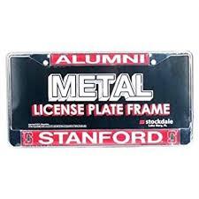 sdsu alumni license plate stanford cardinal alumni metal license plate frame w