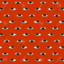 halloween background paper hundred evil eye vector halloween pattern background royalty free