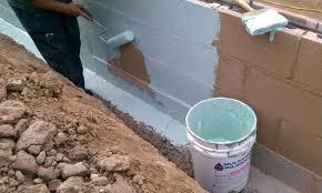 spray on waterproofing for below grade basement foundation wall