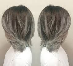 does hair look like ombre when highlights growing out grey highlight hair pinterest grey highlights hair style