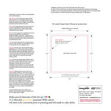 jewel case insert cd template for cd duplication and cd replication