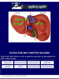 board notes and questions pancreas liver