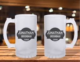 wedding gift groomsmen frosted stein mug groomsman gift ideas best mug groomsman
