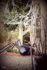 diy halloween yard decor giant spider in spiderweb large outdoor