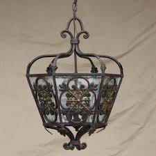 Vintage Ceiling Lights Chandelier Wrought Iron Light Fixtures Black Iron Lighting