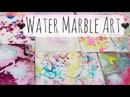 diy water marble art paper marbling with nail polish shaving