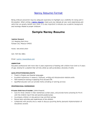 Example Of Skills Resume by Nanny Resume Samples 20 Nanny Resume Examples Example Of A