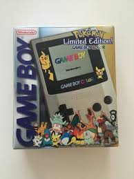 Limited Edition Nintendo Game Boy Gameboy Color Pokemon Pikachu Gameboy Color