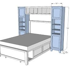 ana white build a hailey towers for the storage bed system