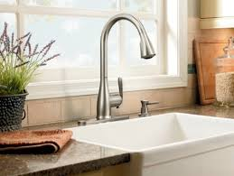 Stainless Faucets Kitchen Popular Of Moen Faucets Kitchen With Moen 90 Degree Single Handle