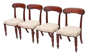 William Iv Dining Chairs Antique Set Of 4 William Iv Regency 19c Balloon Back Mahogany