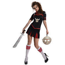 Womens Cheerleader Halloween Costume Womens Jason Costume Ebay