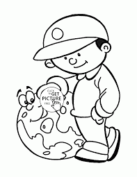love and save the earth earth day coloring page for kids