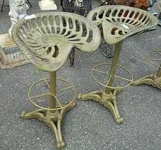 antique tractor seats as bar stools auction finds