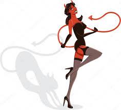 halloween background devil devil woman halloween pin up illustratio u2014 stock vector