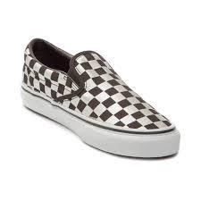 slip on biker boots vans slip on metallic chex skate shoe