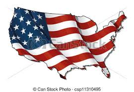 us map outline eps us flag map flat clipping path us map outline with the stock