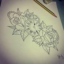 roses and clock tattoo tattoos u0026 piercings pinterest tattoo