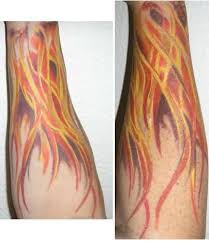 ghost flame tattoos grey ink nautical star and fire and flame