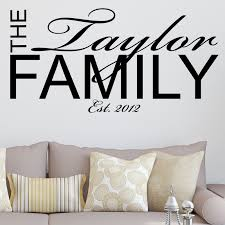 personalised family wall sticker wall sticker decals
